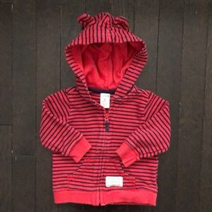 Carter's 9 month hoodie with bear ears